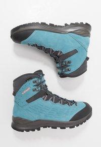 Lowa - EXPLORER GTX MID - Hiking shoes - aquamarin/koralle - 1