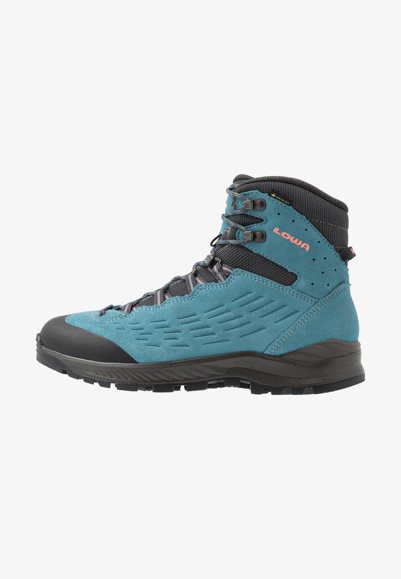 Lowa - EXPLORER GTX MID - Hiking shoes - aquamarin/koralle