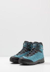 Lowa - EXPLORER GTX MID - Hiking shoes - aquamarin/koralle - 2