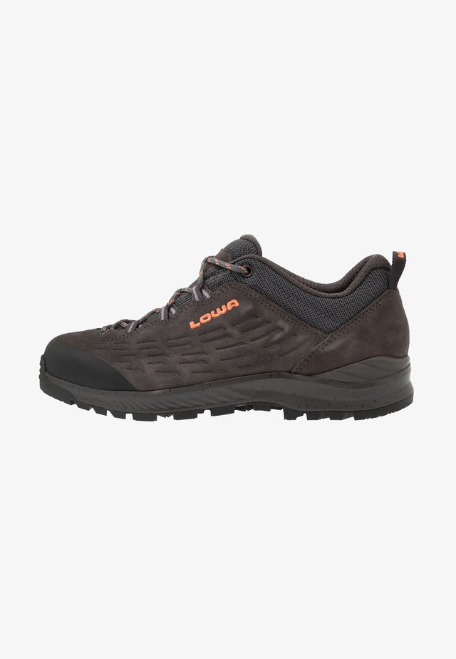 LOWA® EXPLORER - Hiking shoes - anthrazit/koralle