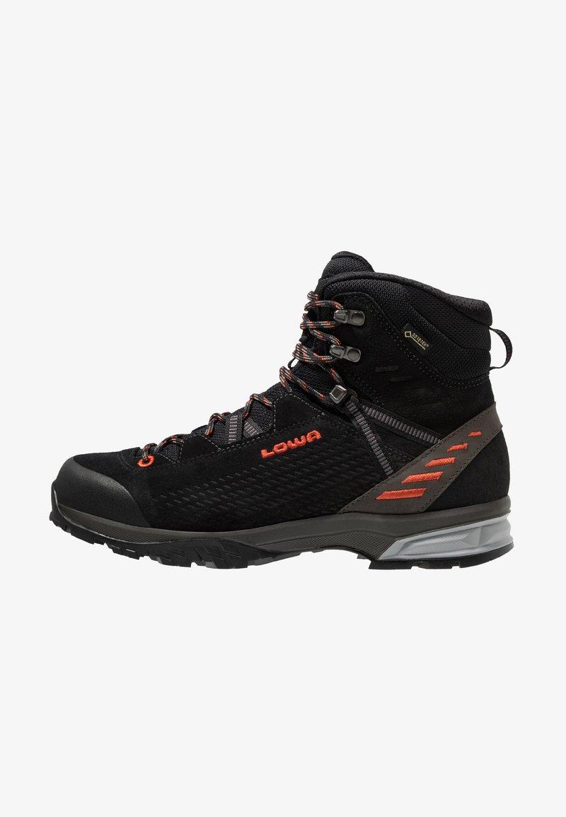 Lowa - LEDRO GTX MID - Chaussures de marche - schwarz/flame