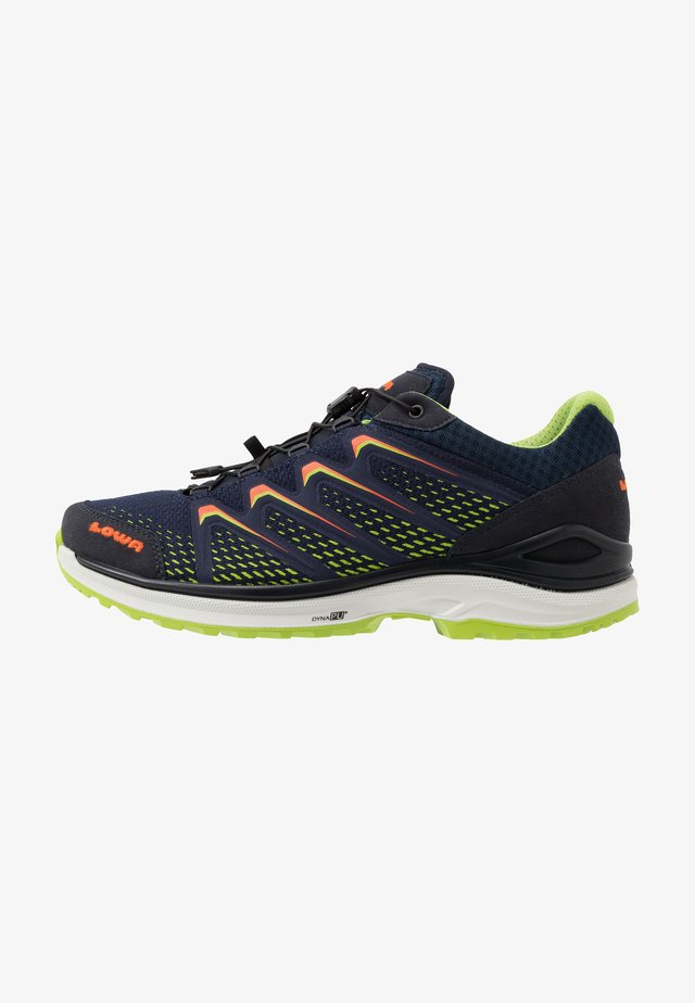 MADDOX GTX - Hiking shoes - navy/limone