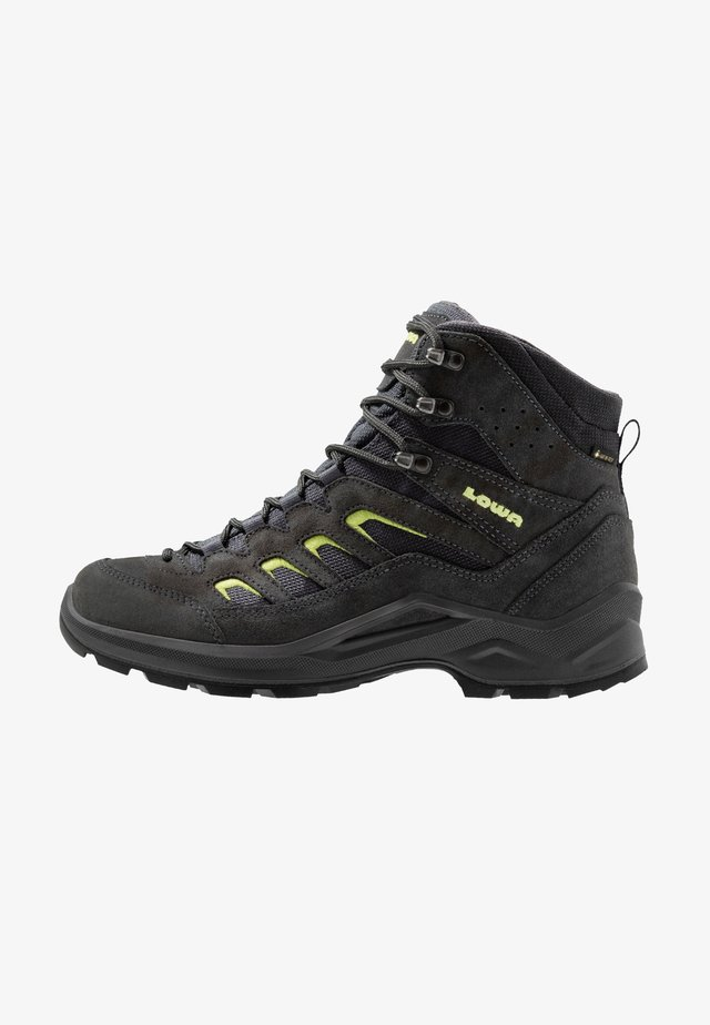 SESTO GTX MID - Hiking shoes - anthrazit/limone