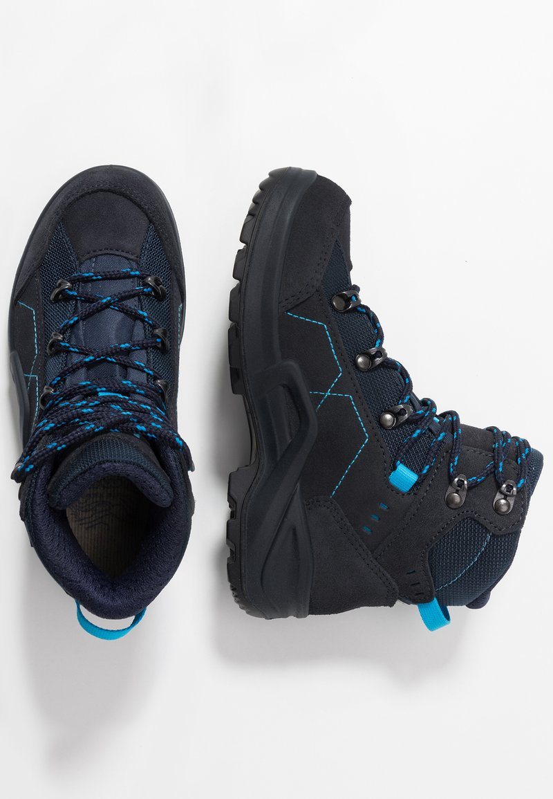 Lowa - KODY III GTX - Hiking shoes - navy/türkis