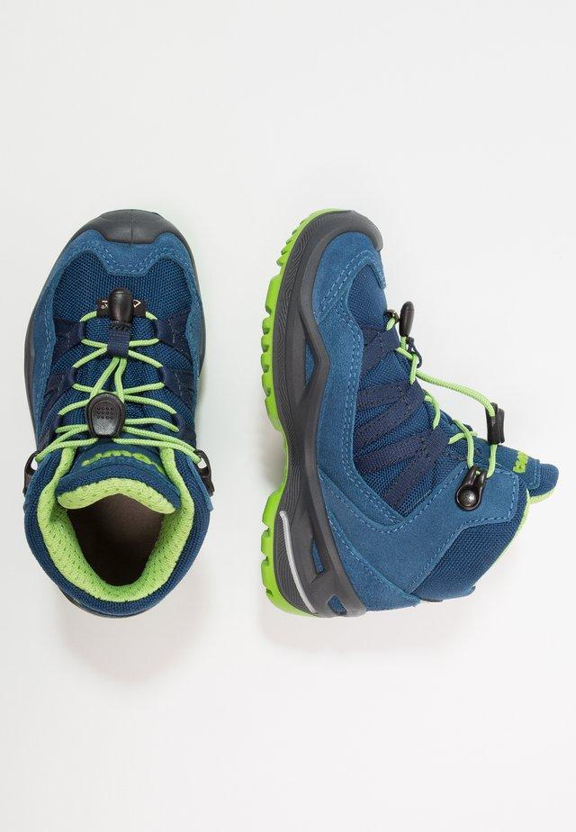 ROBIN GTX - Walking boots - blau/limone