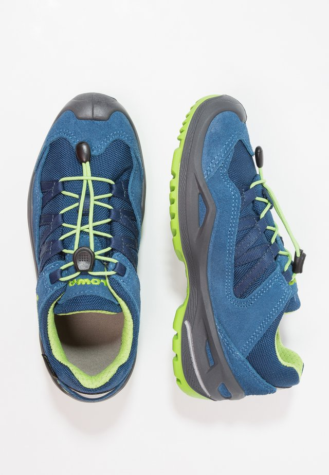 ROBINGTX LO - Hiking shoes - blau/limone