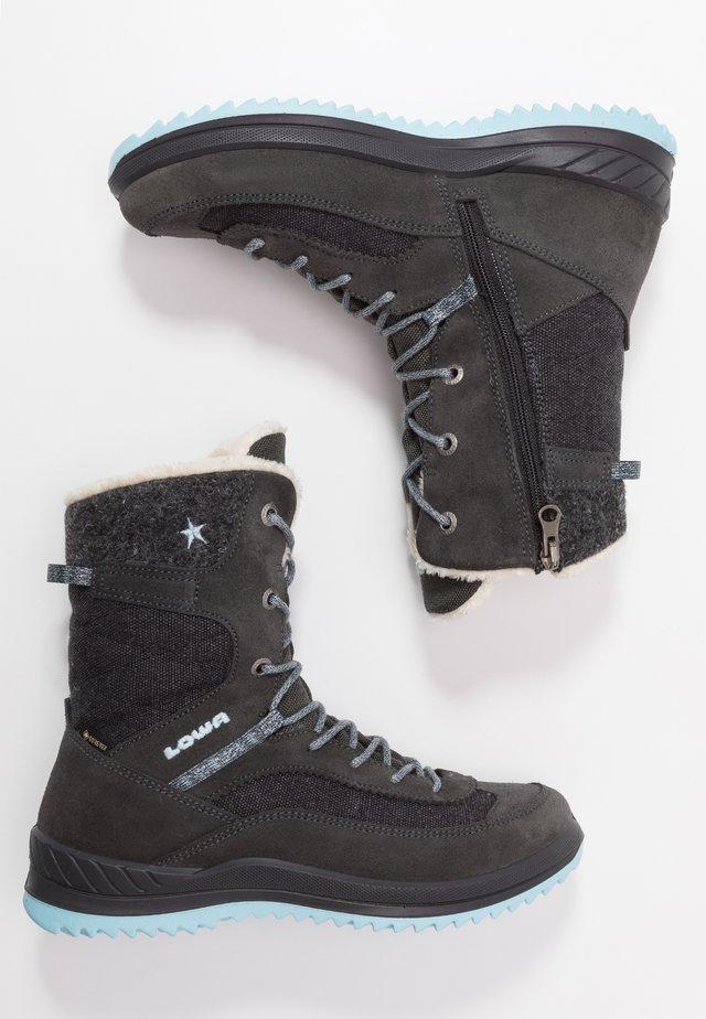 EMMA GTX HI - Winter boots - anthrazit/eisblau
