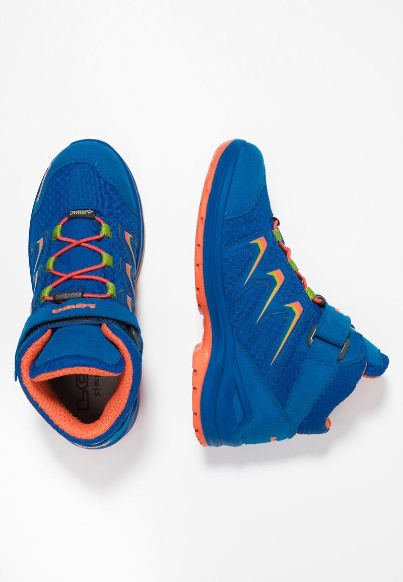 Lowa - MADDOX GTX MID JUNIOR - Hiking shoes - royal/orange