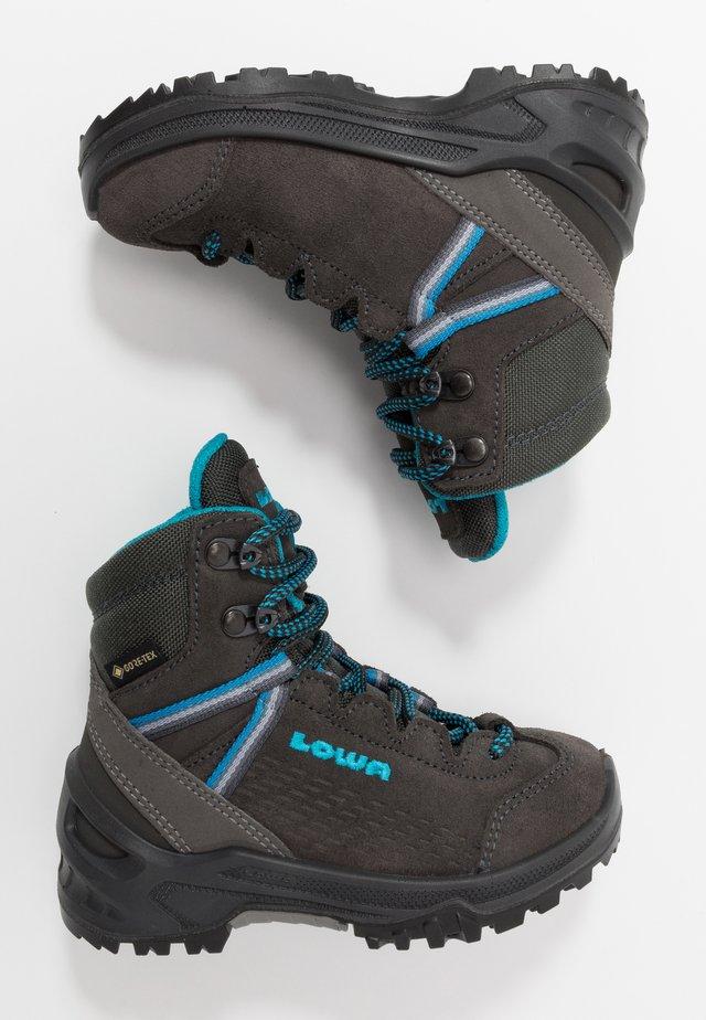 LEDROGTX®MIDJUNIOR - Chaussures de marche - anthrazit/türkis