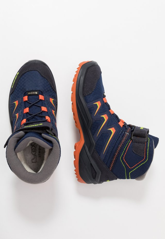 MADDOX WARM GTX - Snowboots  - navy/orange