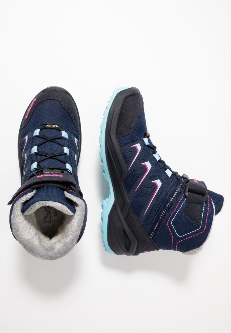 Lowa - MADDOX WARM GTX - Winter boots - navy/beere