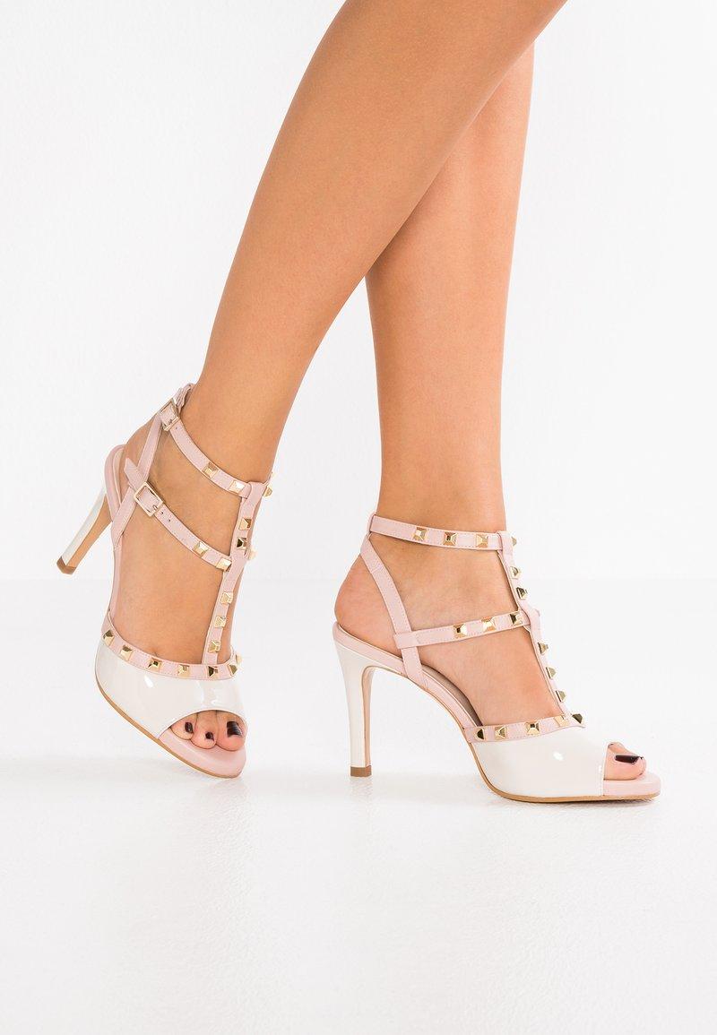 Lodi - IMANOL - High heeled sandals - marfil/sweed cipria/oro