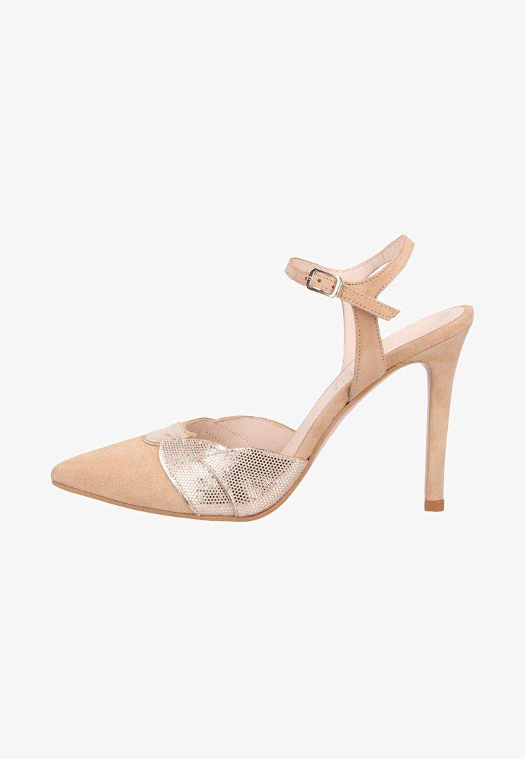 Lodi - Ankle strap ballet pumps - grey