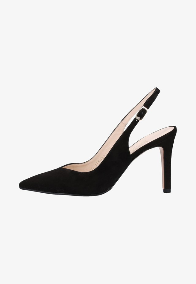 Højhælede pumps - black