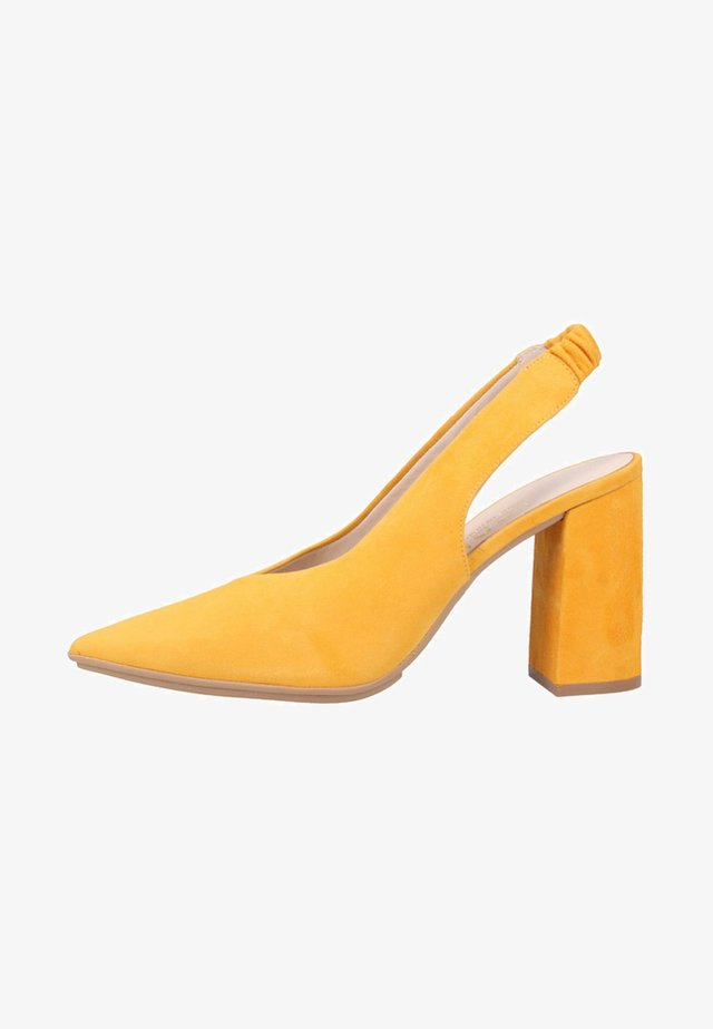 Højhælede pumps - yellow