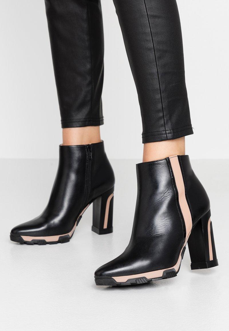 Lodi - High heeled ankle boots - boston nero/charoll rubor