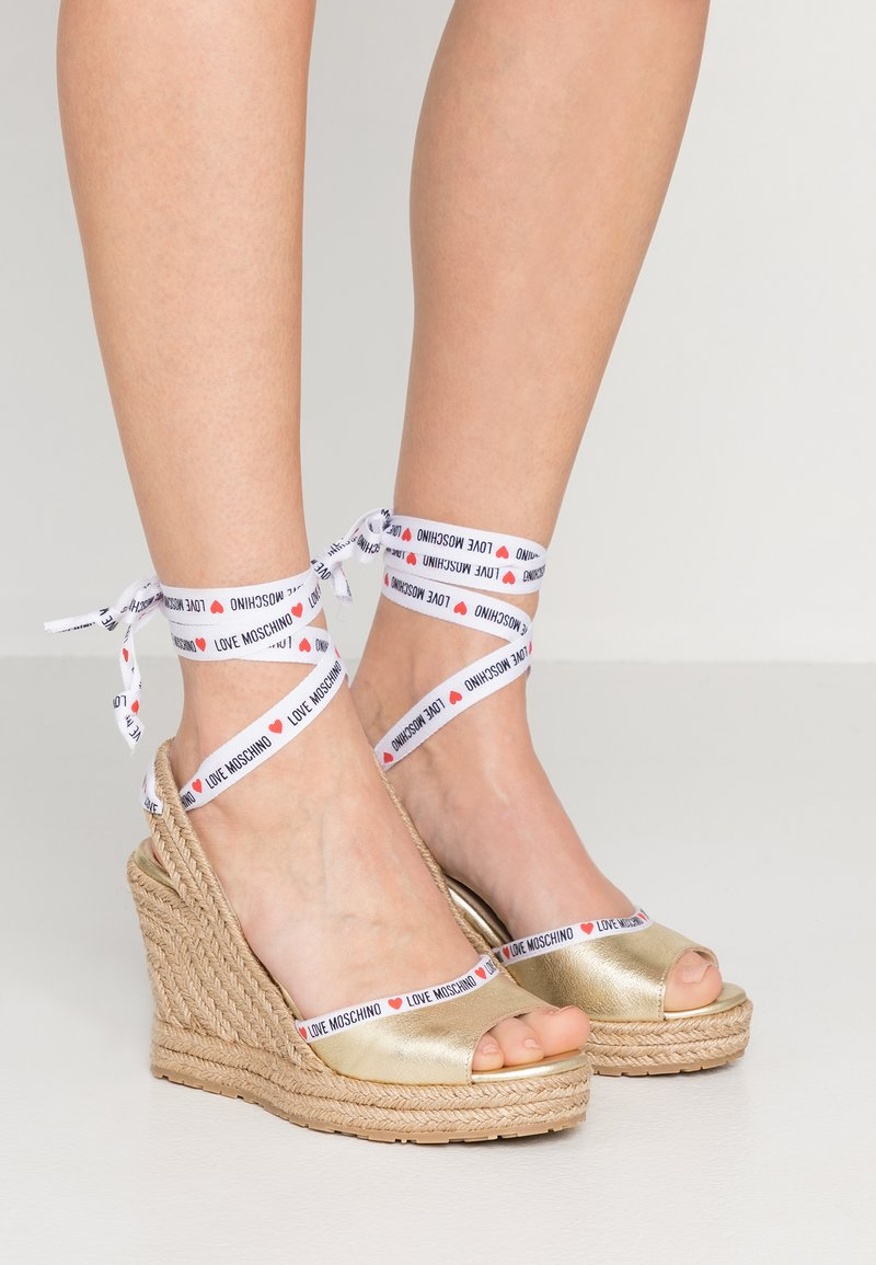 Love Moschino - High heeled sandals - gold