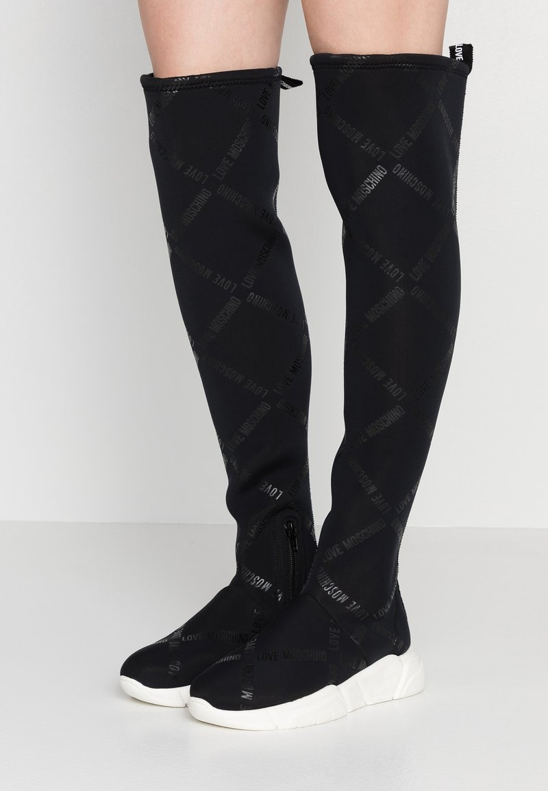 Love Moschino - Over-the-knee boots - black