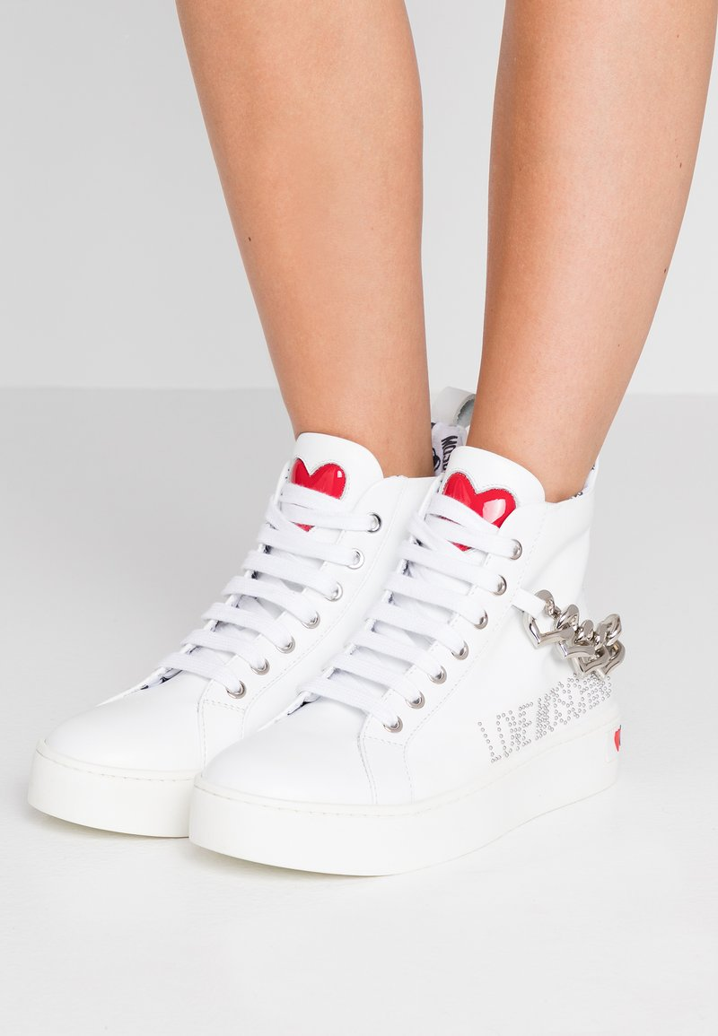 Love Moschino - High-top trainers - white