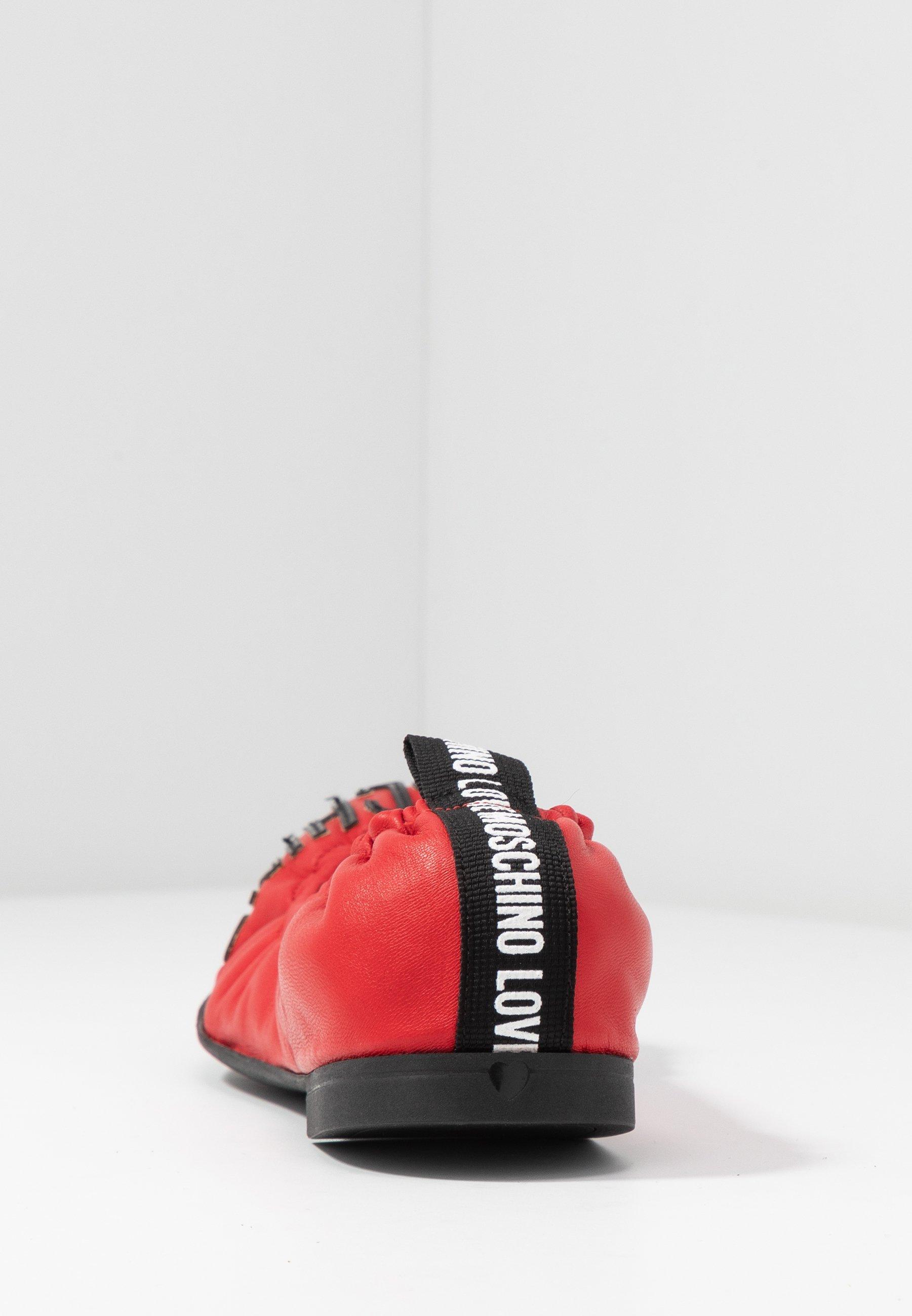 Love Moschino Baleriny - red
