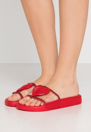 Pool slides - red