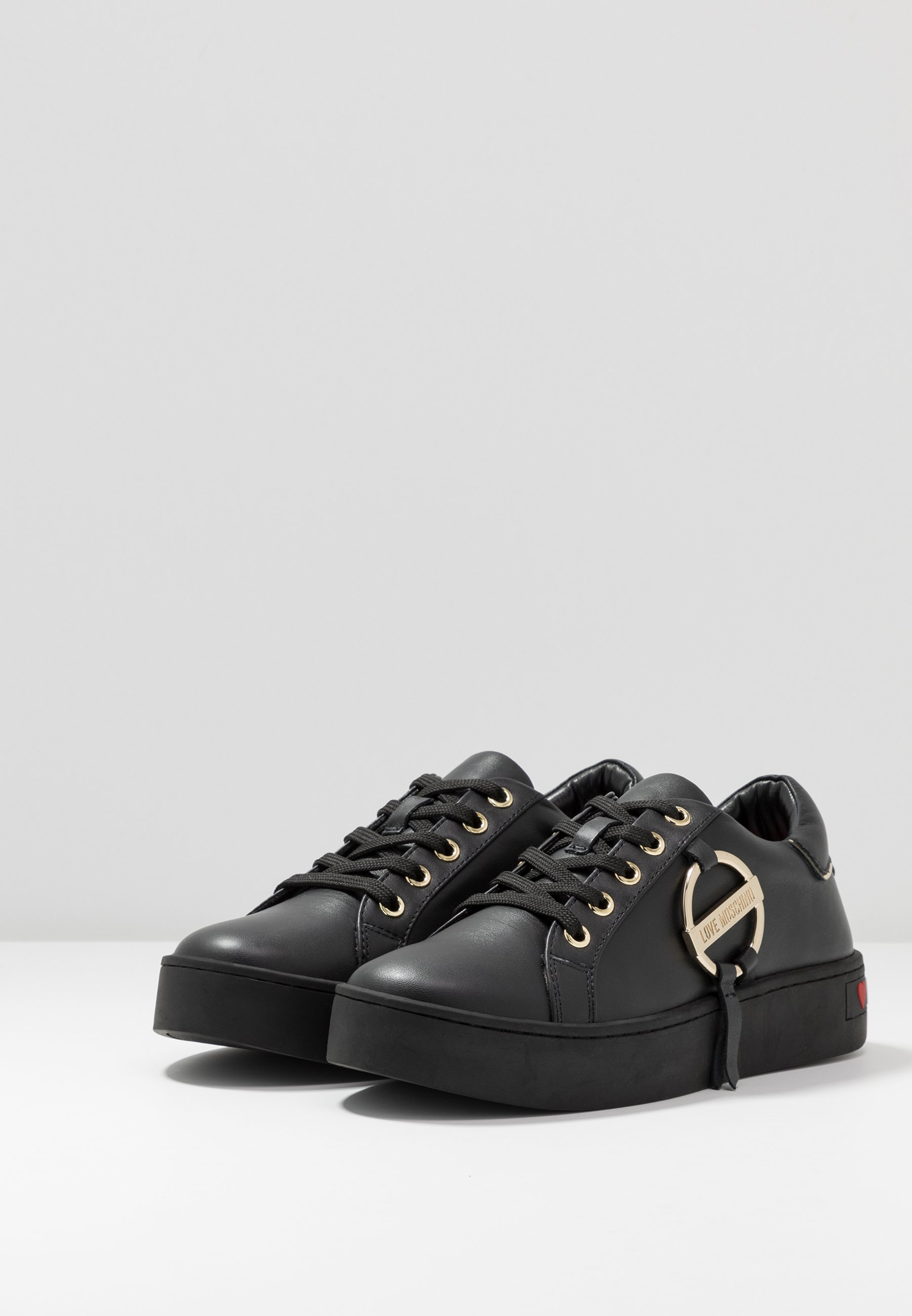 Love Moschino DAILY LOVE - Sneaker low - black 8Dy6Ml