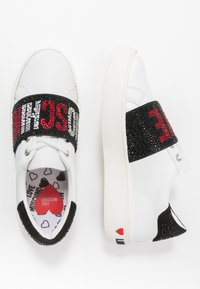 Love Moschino - STRASS BAND - Sneakers laag - white - 3