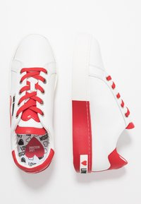 Love Moschino - Sneakers laag - bianco/rosso - 3