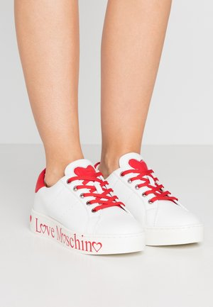 Sneakers laag - bianco/rosso