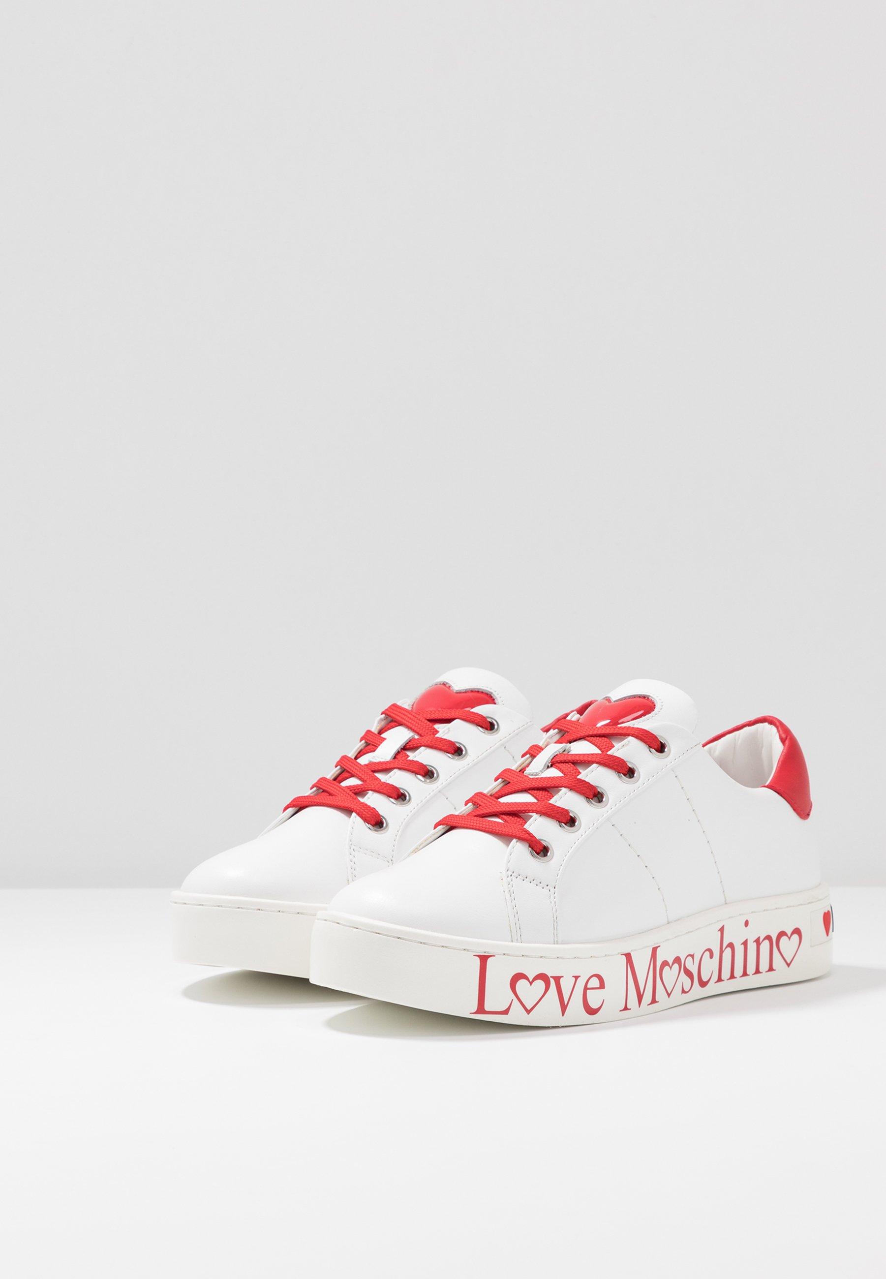 Love Moschino Joggesko biancorosso Zalando.no
