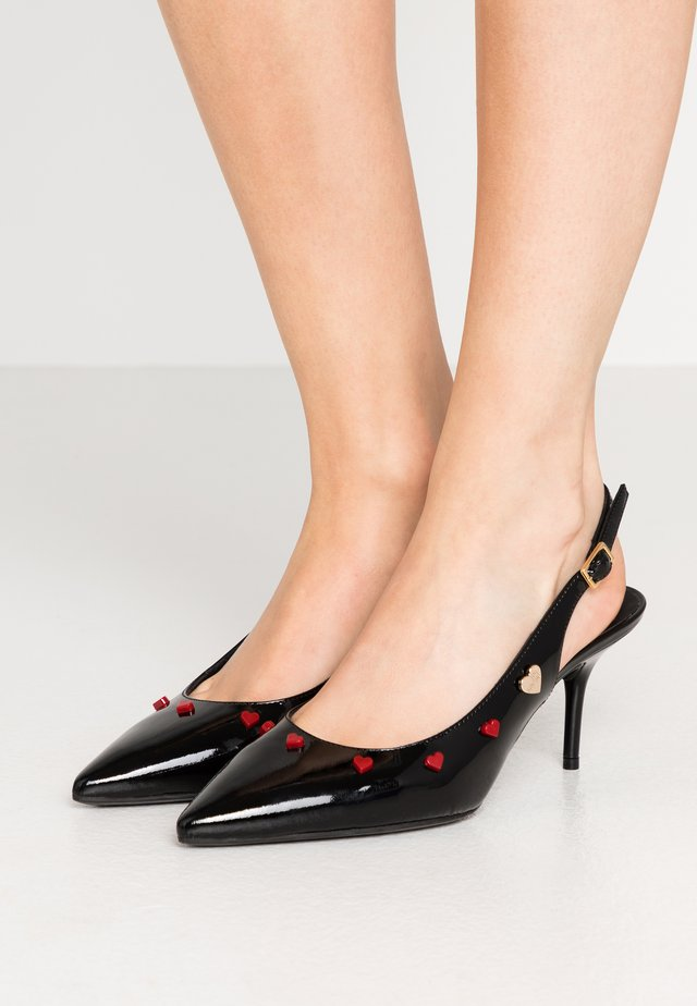 HEART STUDS - Classic heels - black