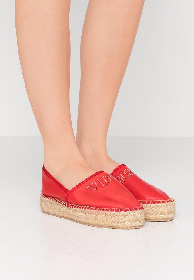 Espadrilles - rosso