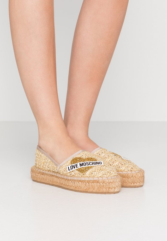 Espadrilky - natural nude