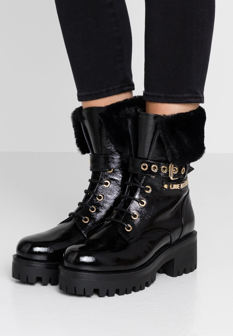 Love Moschino - Lace-up ankle boots - black