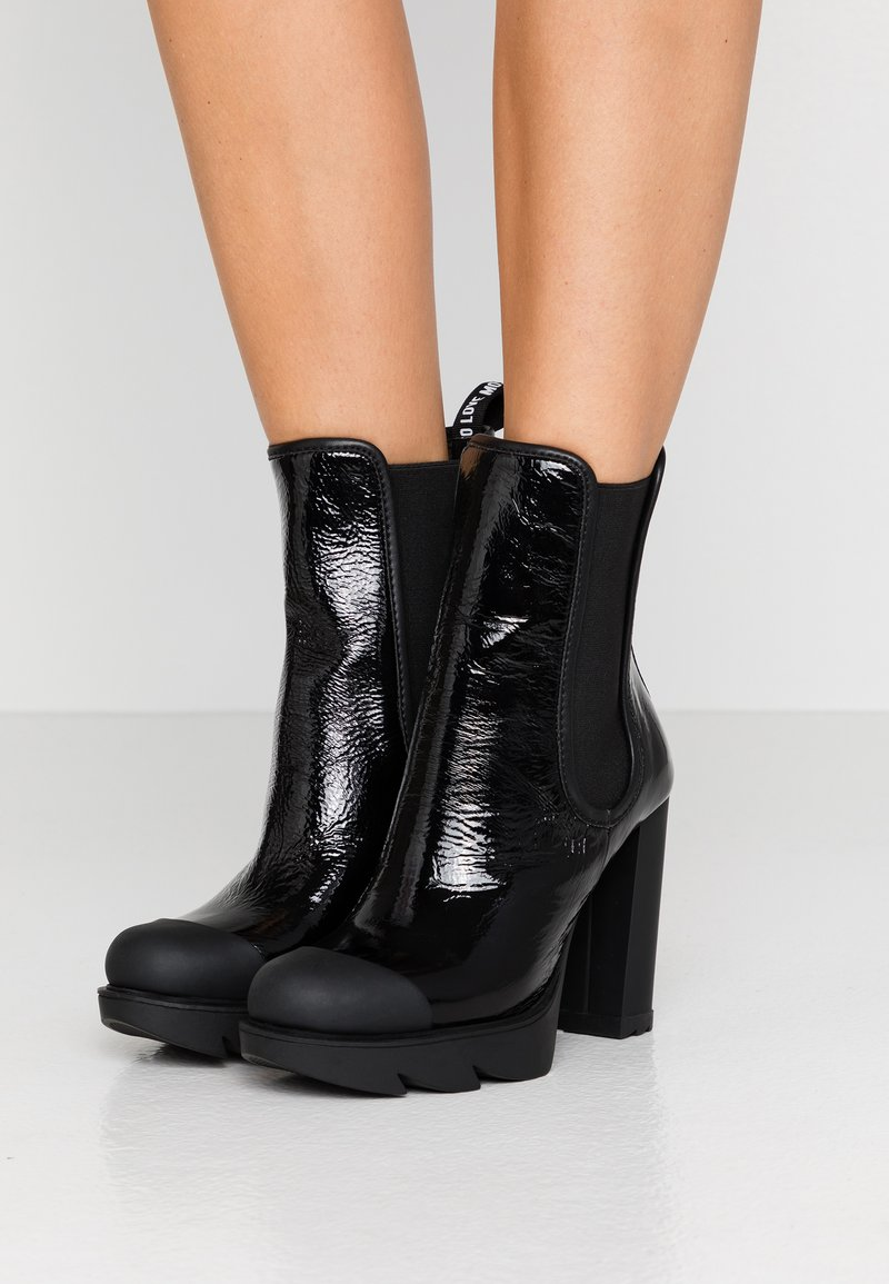 Love Moschino - High heeled ankle boots - black