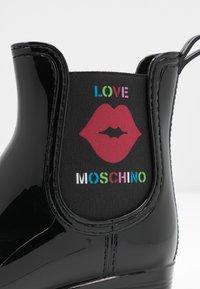 Love Moschino - RAIN BOOTIE - Gummistøvler - black - 2