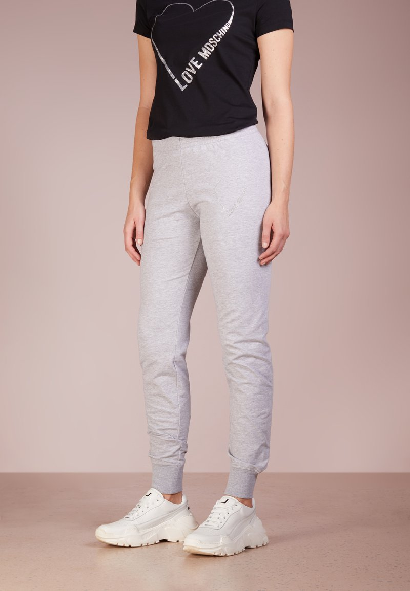 Love Moschino - Pantalones deportivos - melange light gray