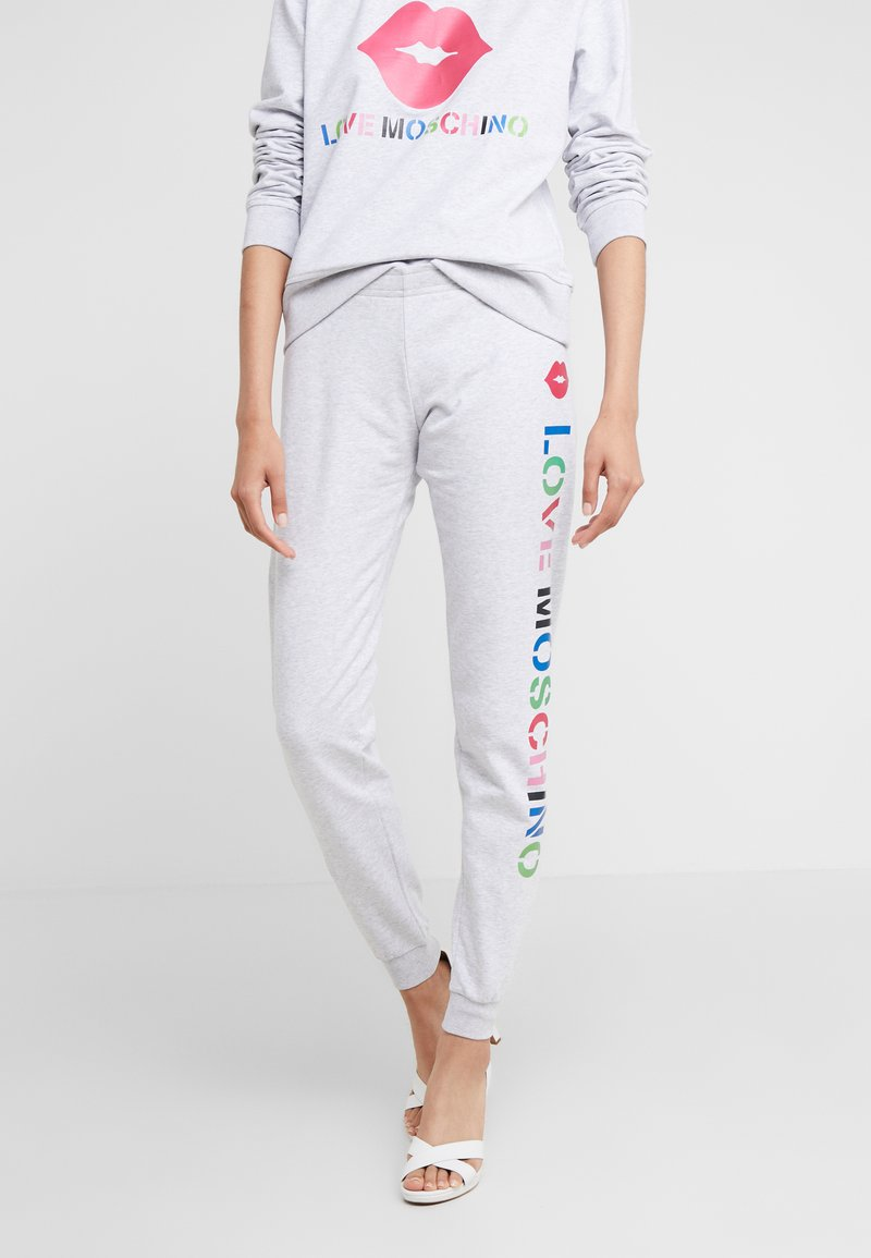 Love Moschino - JOGGER LIP - Pantalon de survêtement - light grey
