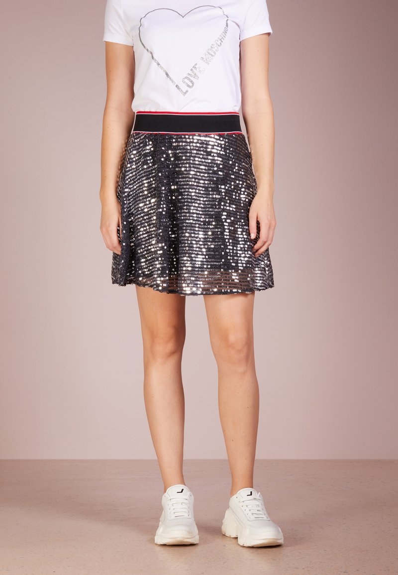 Love Moschino - A-line skirt - blue/silver