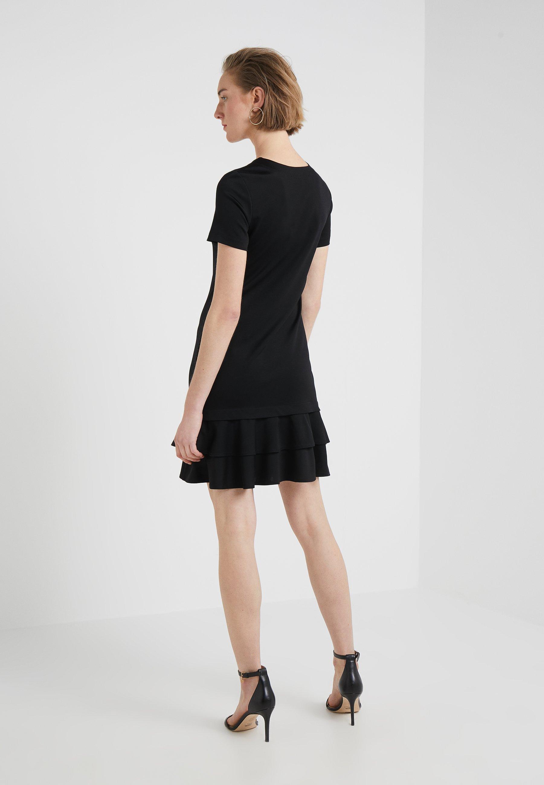 Moschino DressRobe En Love Black Jersey N8wm0nyvO
