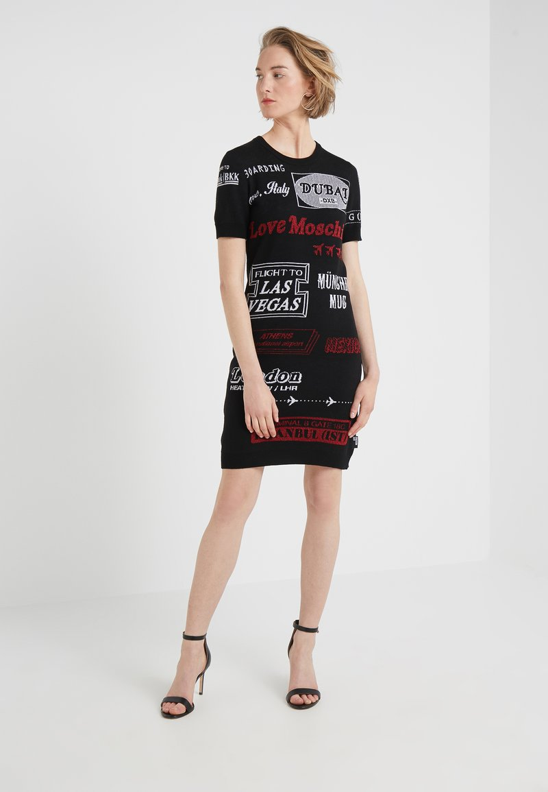 Love Moschino - DRESS - Jumper dress - black