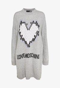 Love Moschino - Jumper dress - grey - 4
