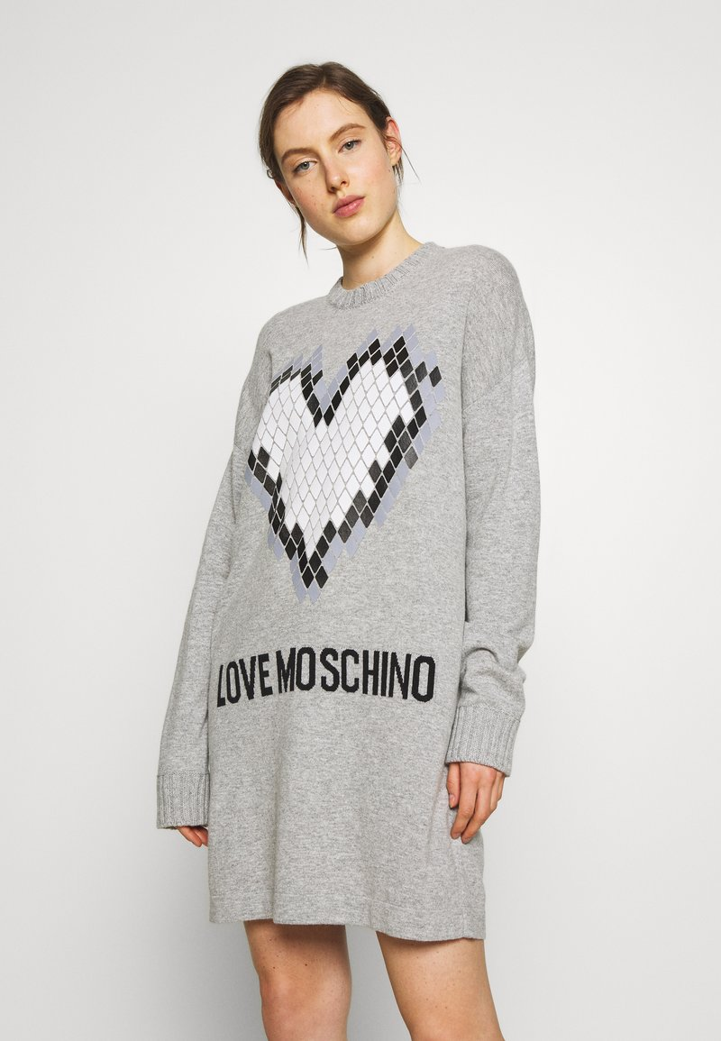 Love Moschino - Jumper dress - grey