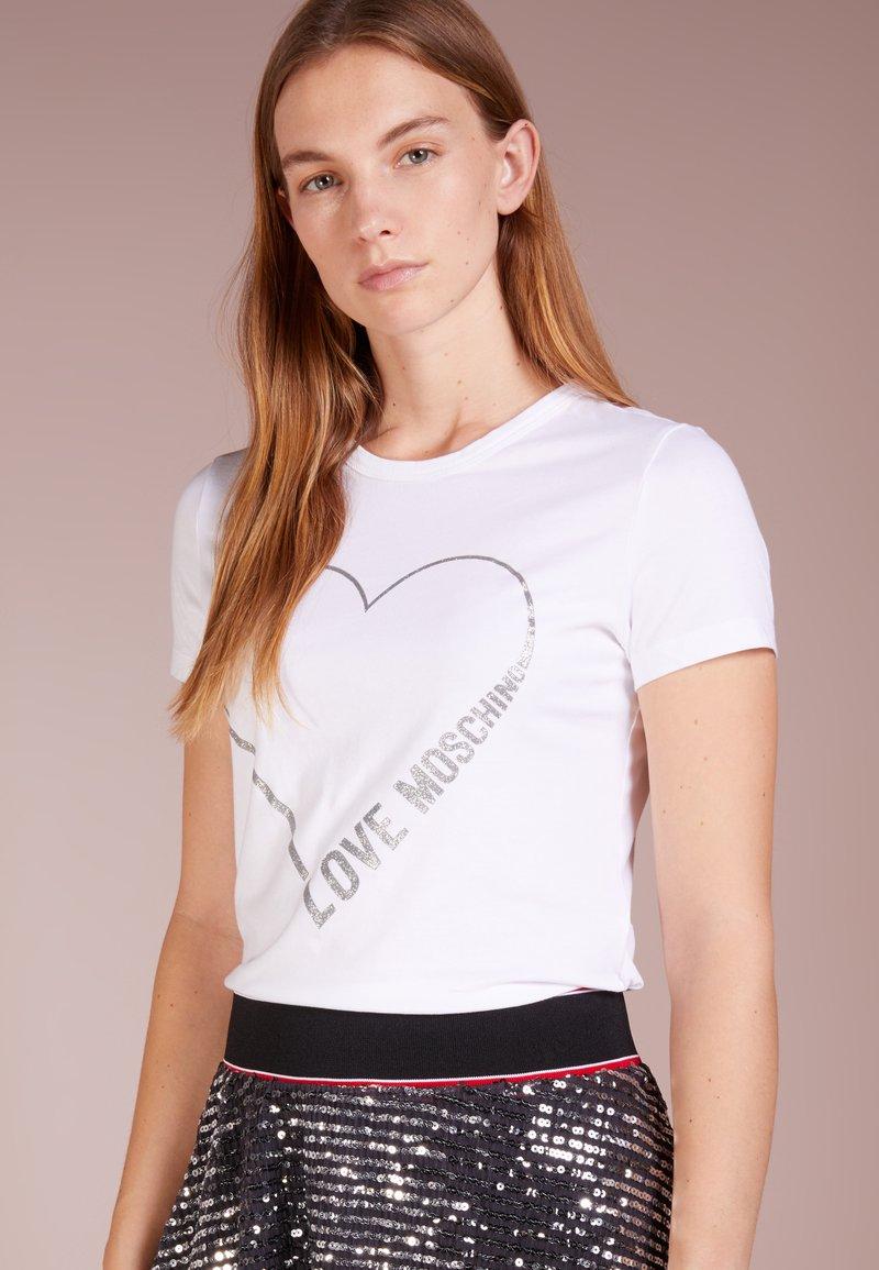 Love Moschino - T-shirt imprimé - white