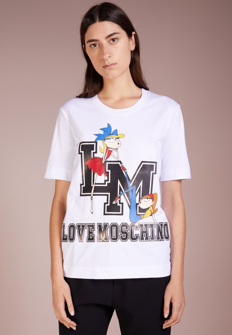 Love Moschino - T-Shirt print - white