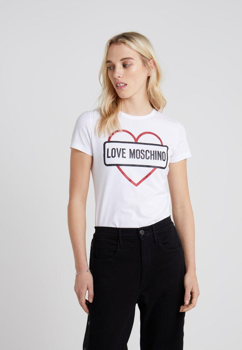 Love Moschino - T-Shirt print - white