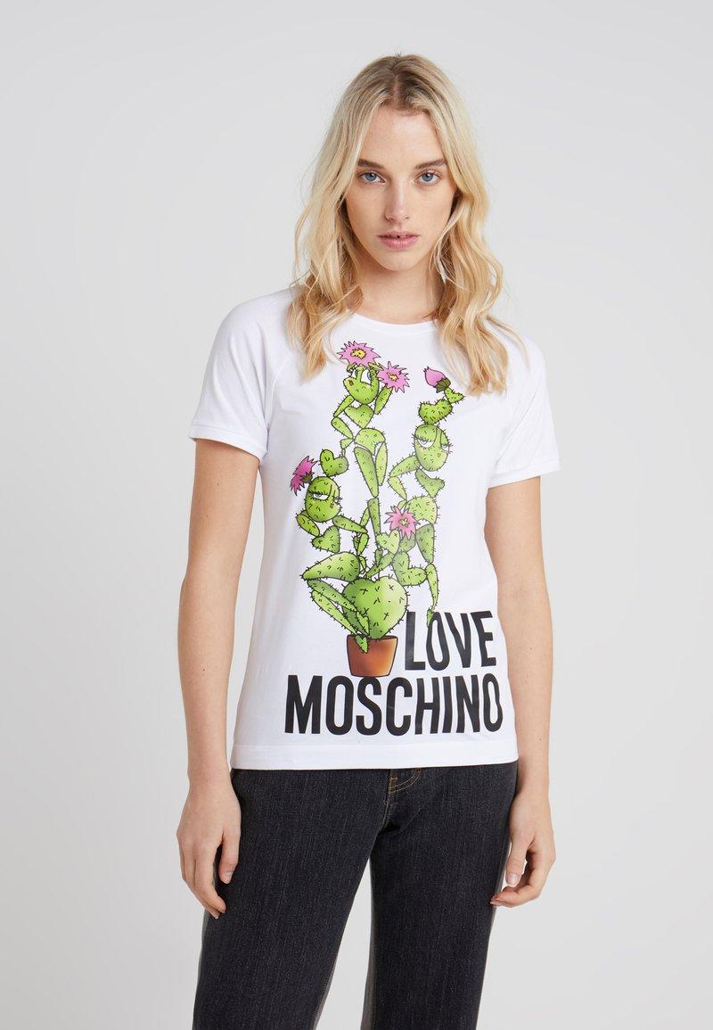 Love Moschino - Print T-shirt - white