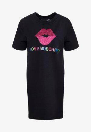DRESS GLITTER LIP - Day dress - black