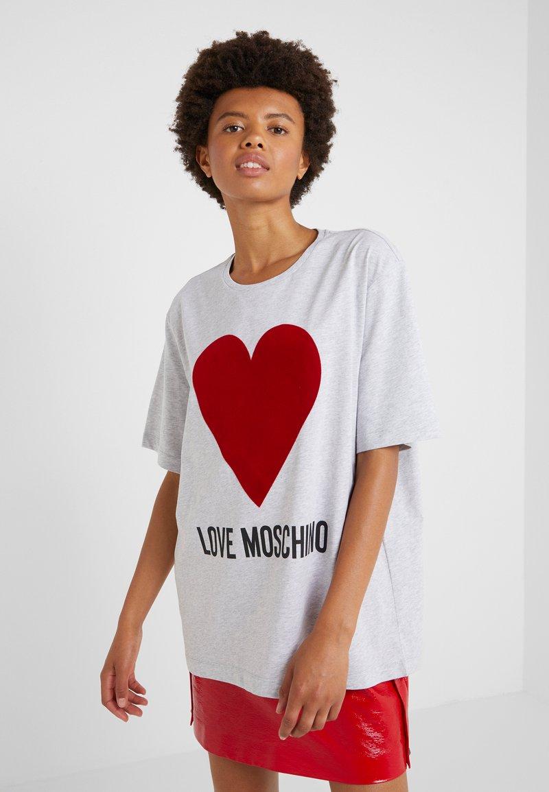 Love Moschino - Print T-shirt - light grey
