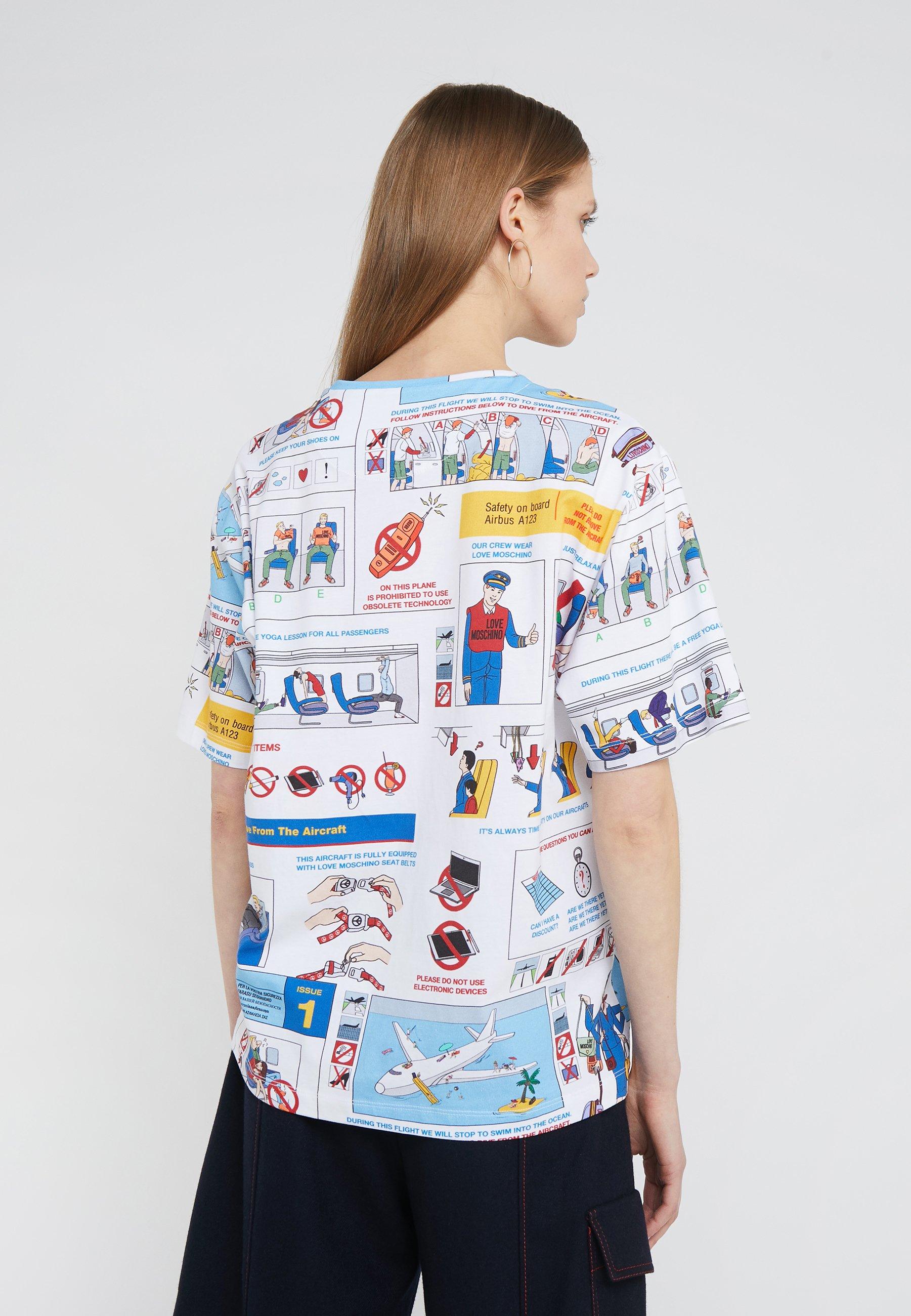 Love ImpriméSafety T Moschino shirt Card 6Yf7bgy